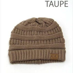 C.C Knit Beanie –Taupe